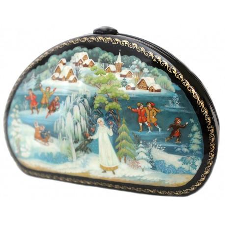 Снегурочка (двухсторонняя шкатулка-кошелек)
