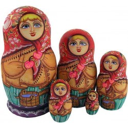 "Matrioshka ""Out For the Water with yoke""(winter)"