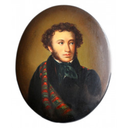 Portrait of famous Russian Poet Alexander Pushkin