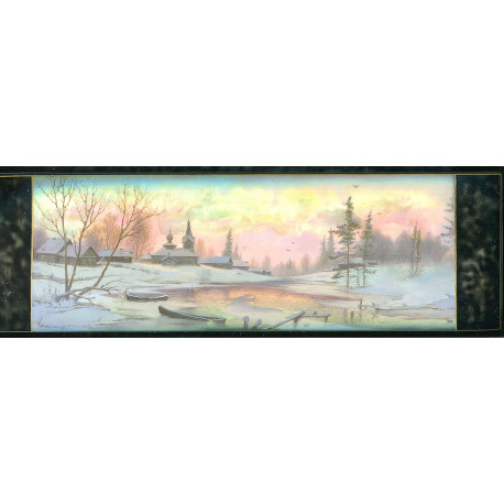 Winter in Russian country side