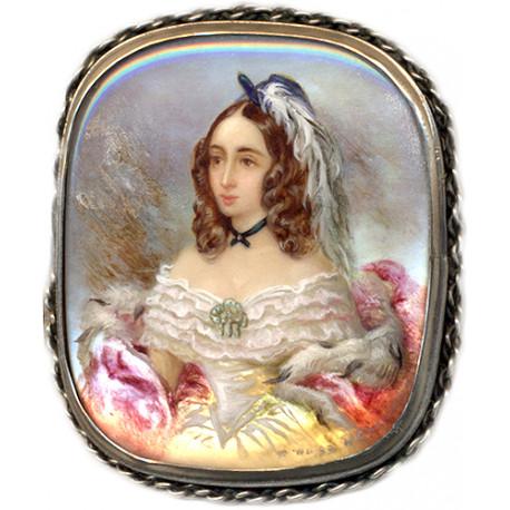 Portrait of Natalia Pushkina (Goncharova)