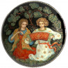 Brooch: Accordion player