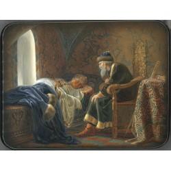 Ivan the Terrible Looking with Admiration at sleeping Vasilisa Melentyeva