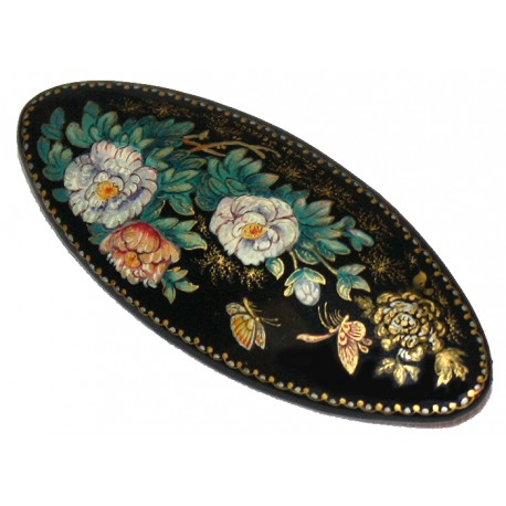 Brooch-Flowers and Butterflies
