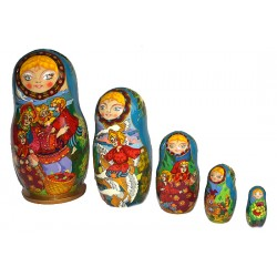 "Matrioshka ""Geese and Swans"""