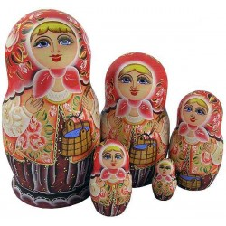 "Matrioshka ""Out for the Water with yoke""(summer)"