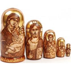 """Матрешка """"Богородица с младенцем"""""""