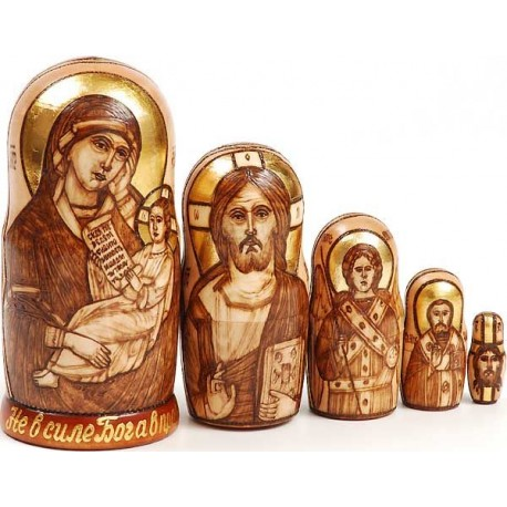 "Matrioshka ""The Blessed Virgin with the Child"""