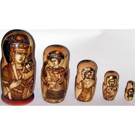 """Matrioshka """"Chernigovskaya Blessed Virgin with the Child"""""""