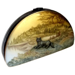Landscape with a cat and a bear (dual sided box)