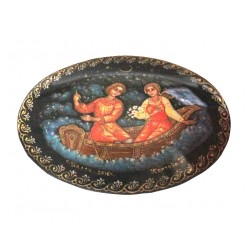 Brooch: Romantic Date on a Boat
