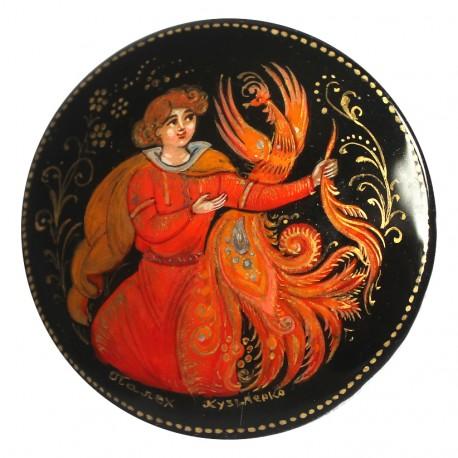 Brooch: Fire bird